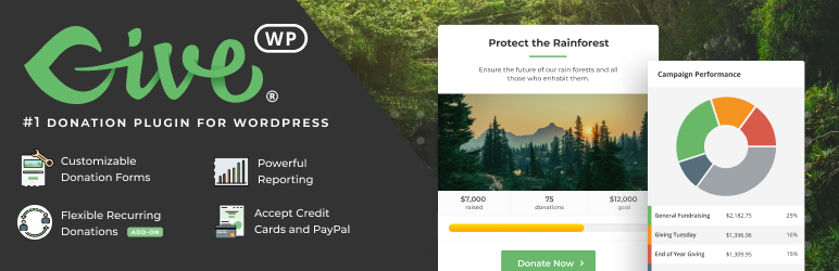 GiveWP – Donation Plugin and Fundraising Platform