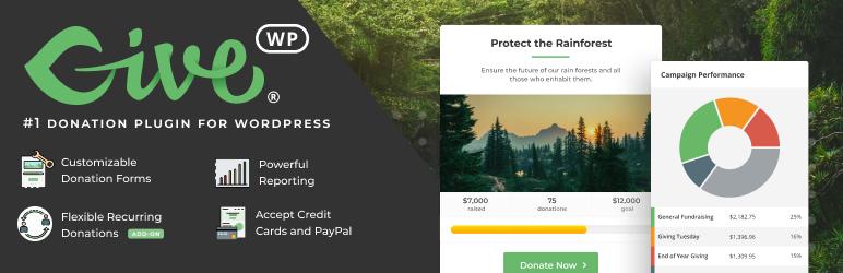 GiveWP – Donation Plugin and Fundraising Platform