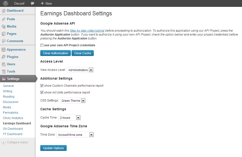 google-adsense-dashboard-for-wp screenshot 3