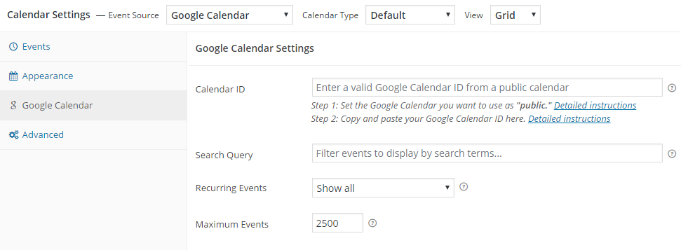 google-calendar-events screenshot 5