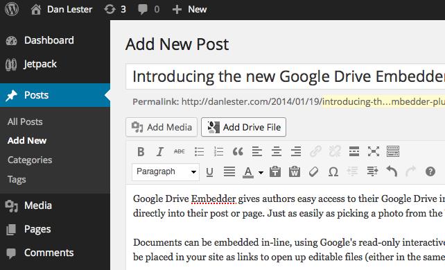 Google Drive Embedder – WordPress plugin | WordPress org