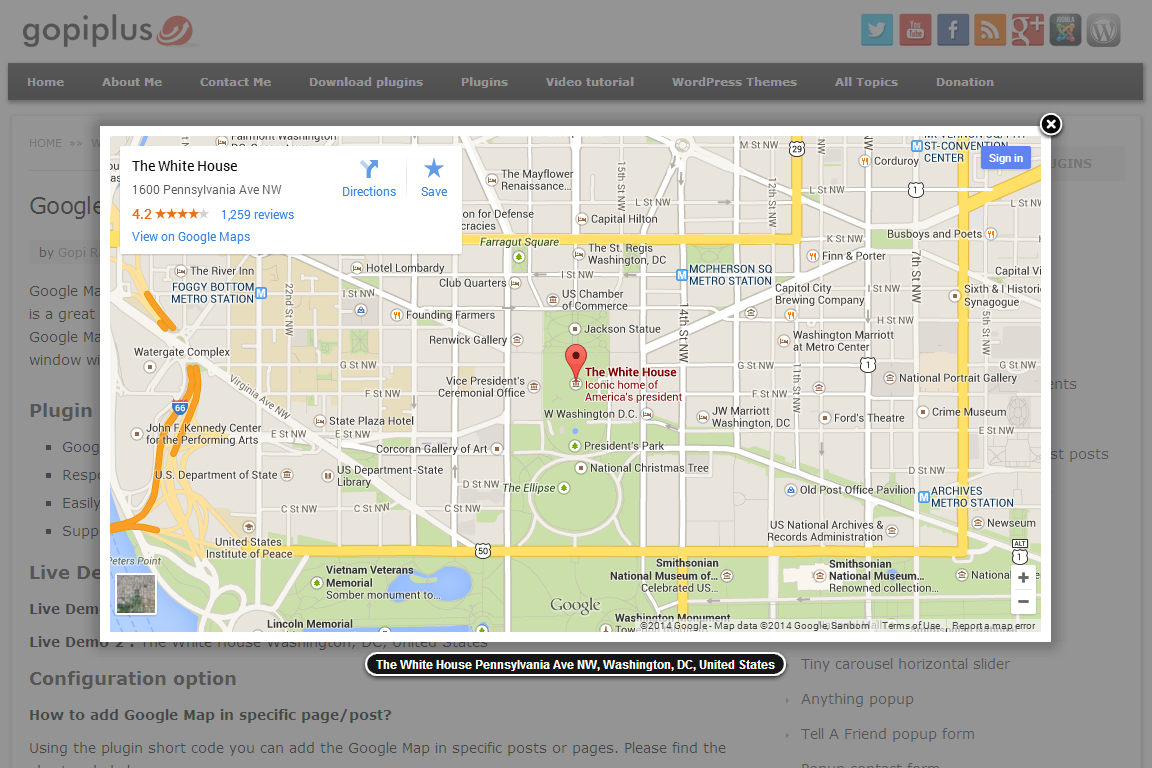 Google Map With FancyBox Popup WordPress Plugins - Wordpress contact us page with google map
