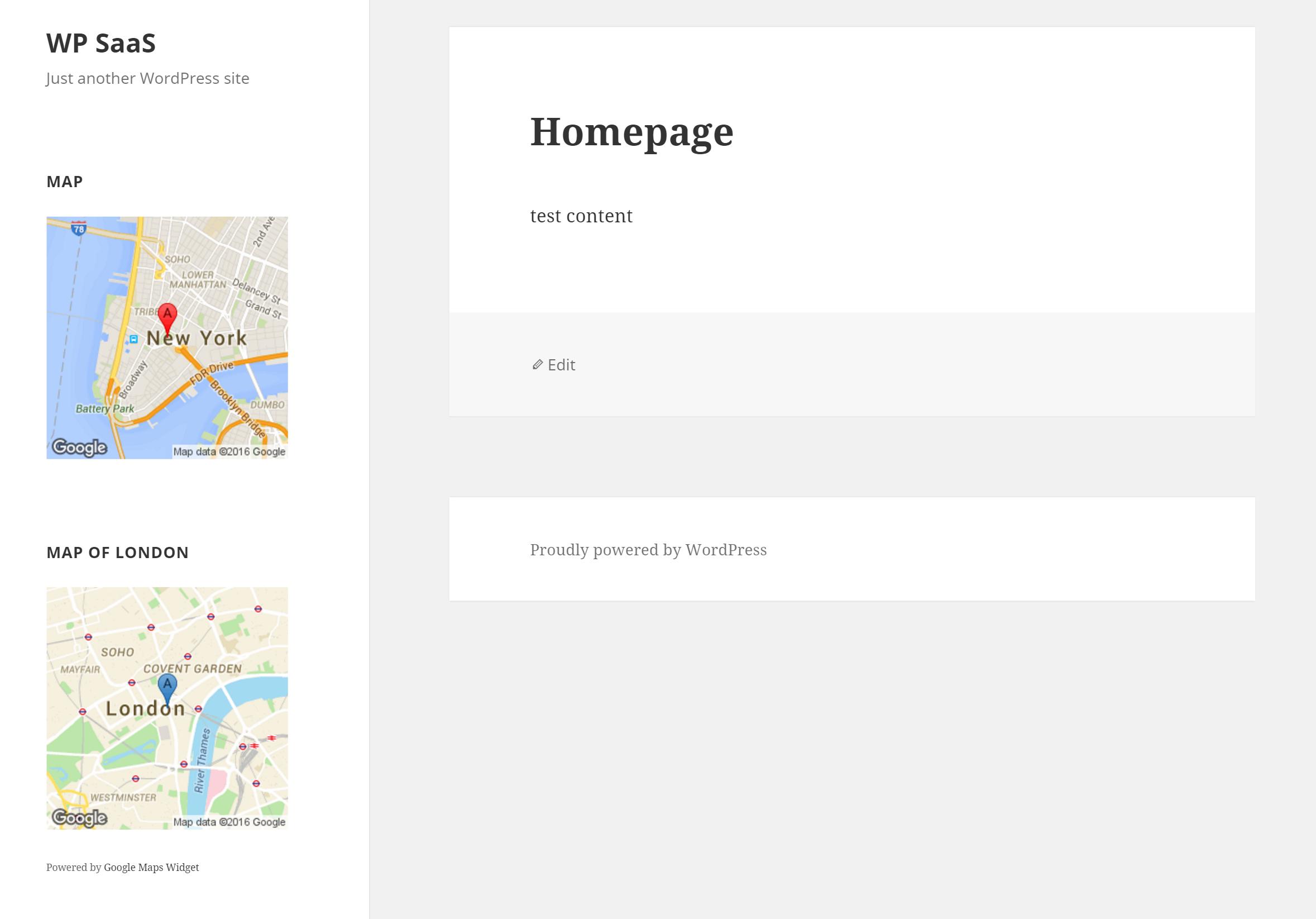 Google Maps Widget WordPress Plugins - Free find us map header