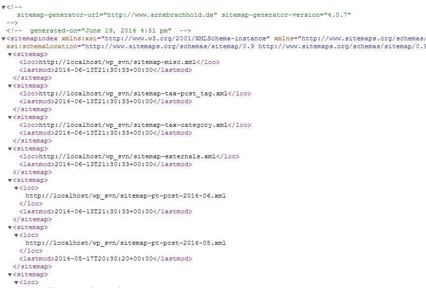 xml sitemap generator example