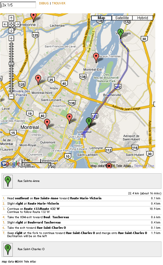 Locator usage in a web page