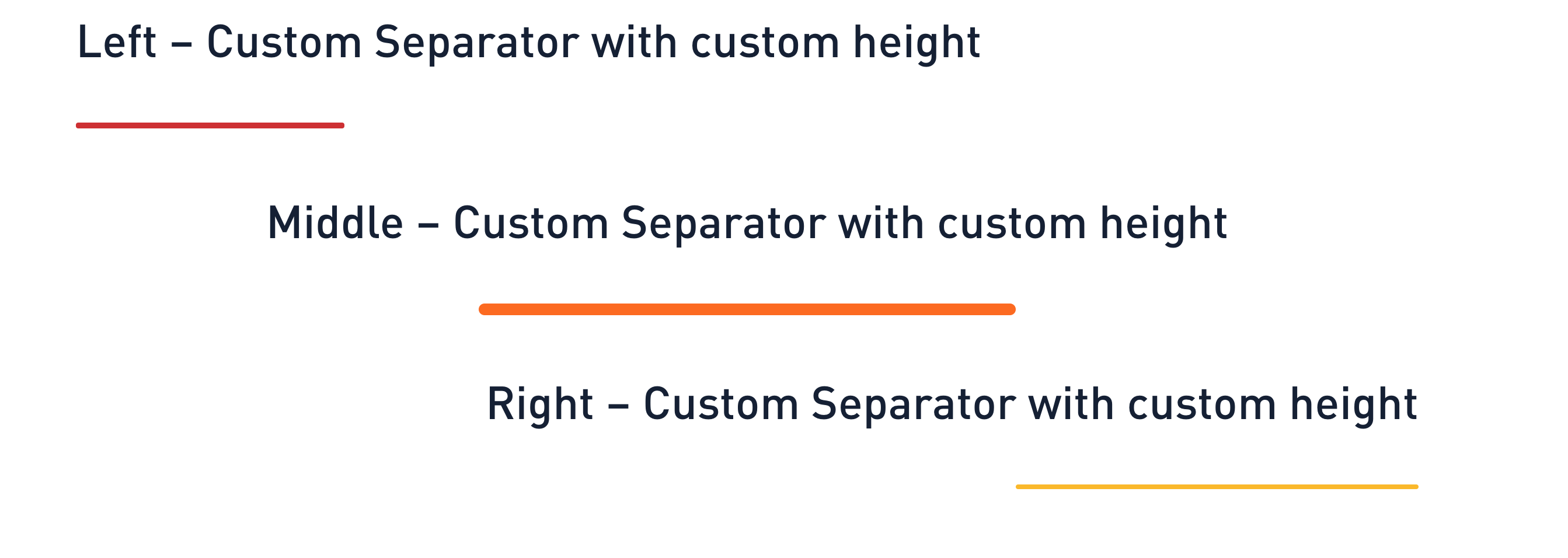Gosign – Advanced Separator Block