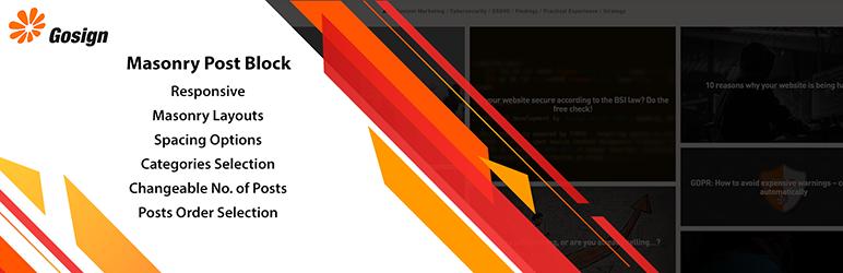 Gosign – Masonry Post Block – WordPress plugin | WordPress org