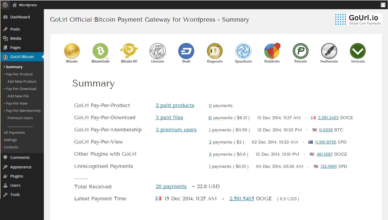 bitcoin plugin wordpress
