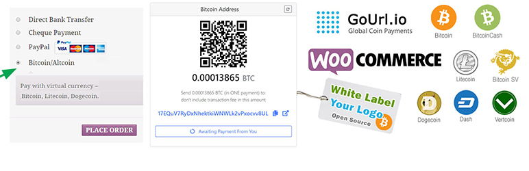 GoUrl WooCommerce – Bitcoin Altcoin Payment Gateway Addon