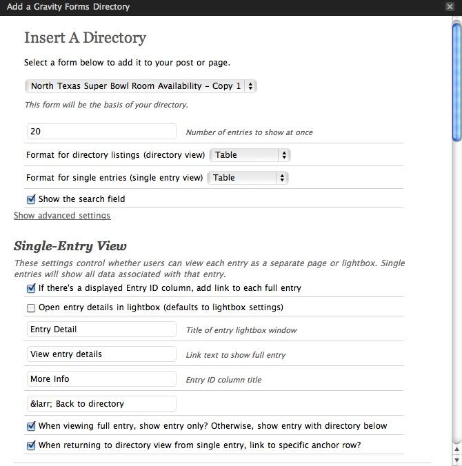 Gravity Forms Directory — WordPress Plugins