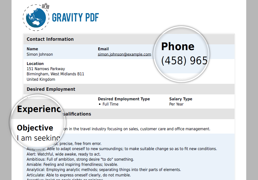 Gravity PDF – WordPress eklentisi | WordPress org