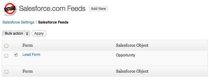 Gravity Forms Salesforce Add-On — Wordpress Plugins