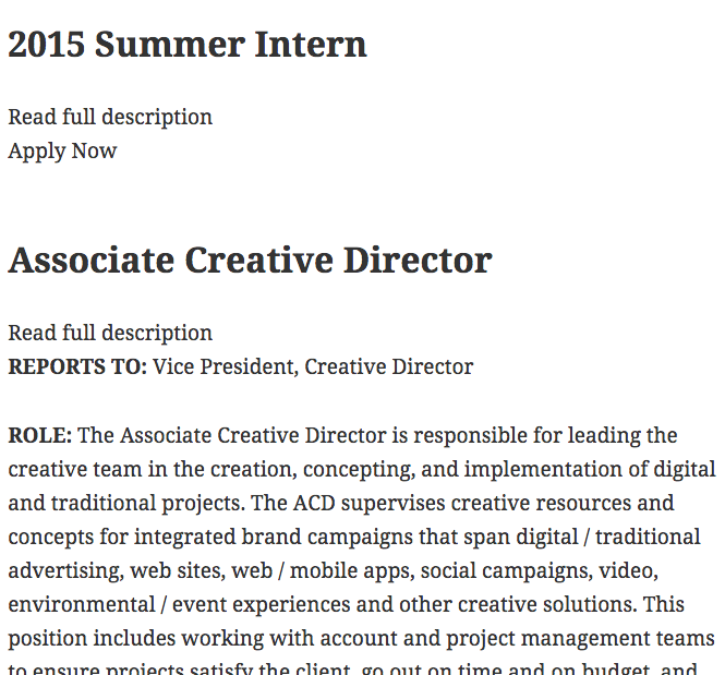 Greenhouse Job Board WordPress Plugins – Art Director Job Description