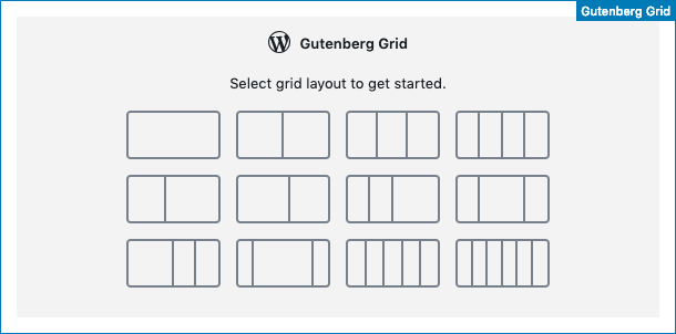 Select the default grid layout