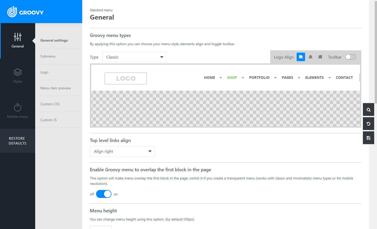 Groovy Menu (free) – WordPress plugin | WordPress org