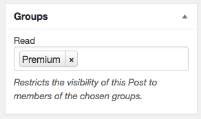 Restrict access on pages and posts (and other custom post types) ... you can restrict access to users who are members of one or more groups.
