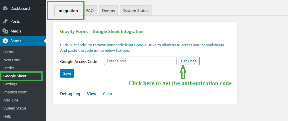 Google Sheet Integration without authentication.