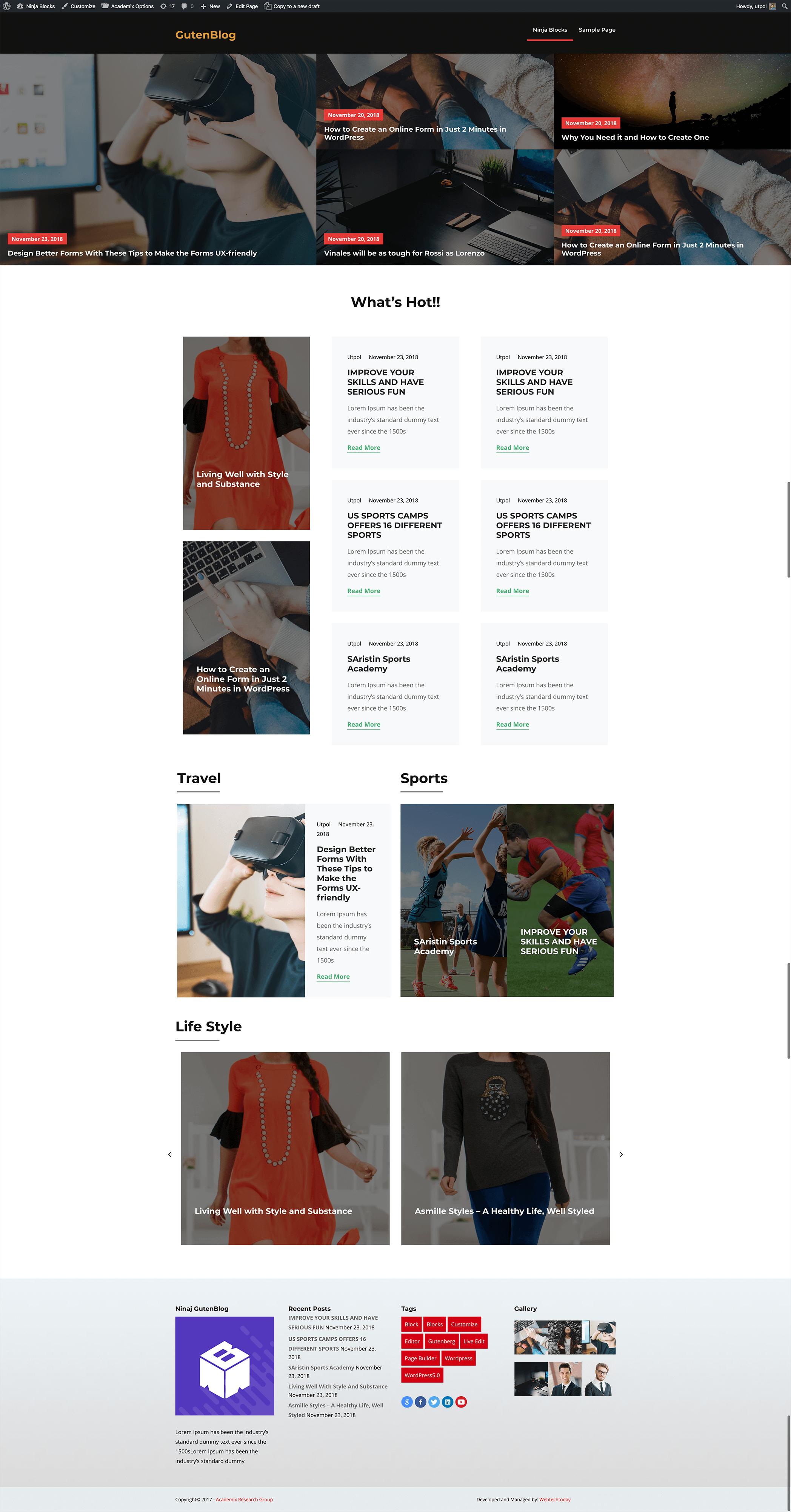Magazine Site Example