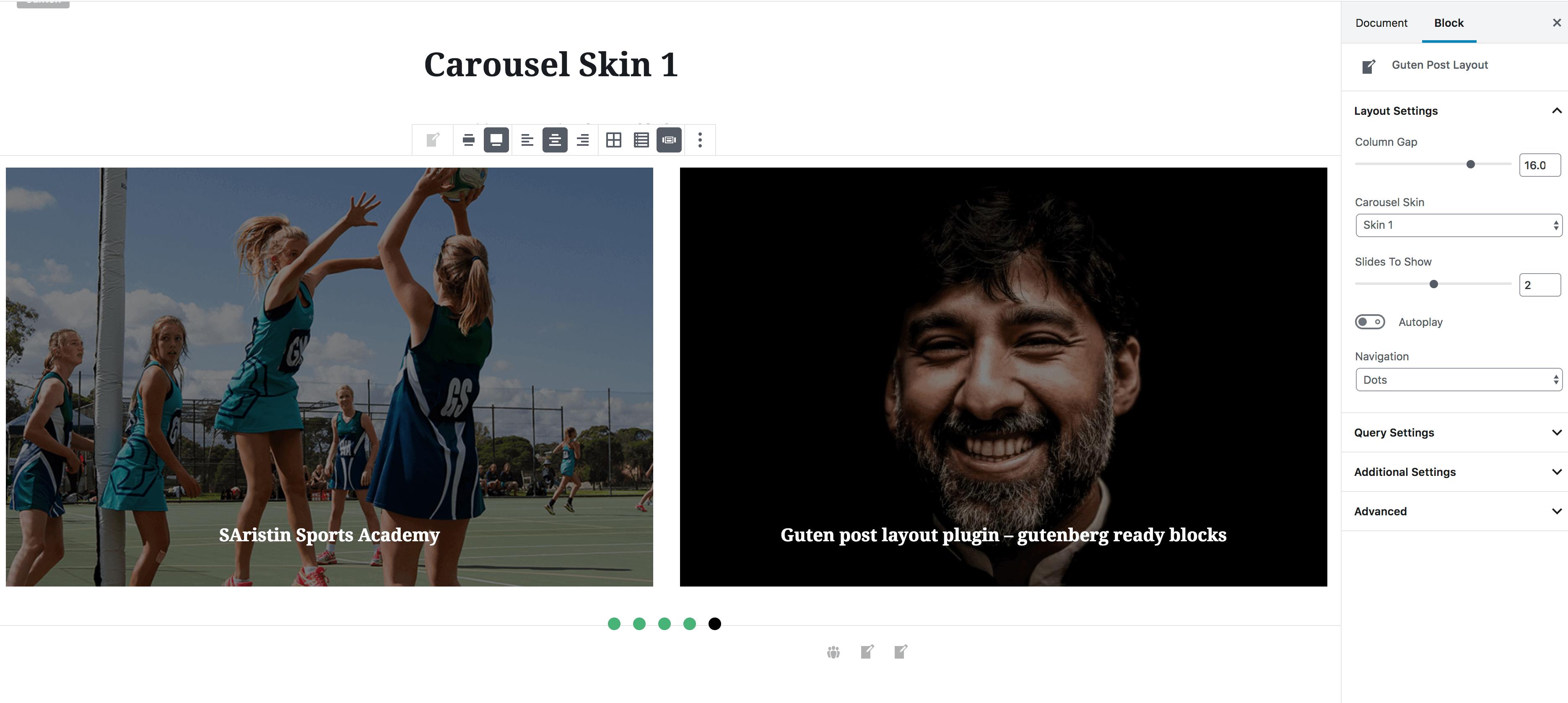 Carousel Skin 1 Example