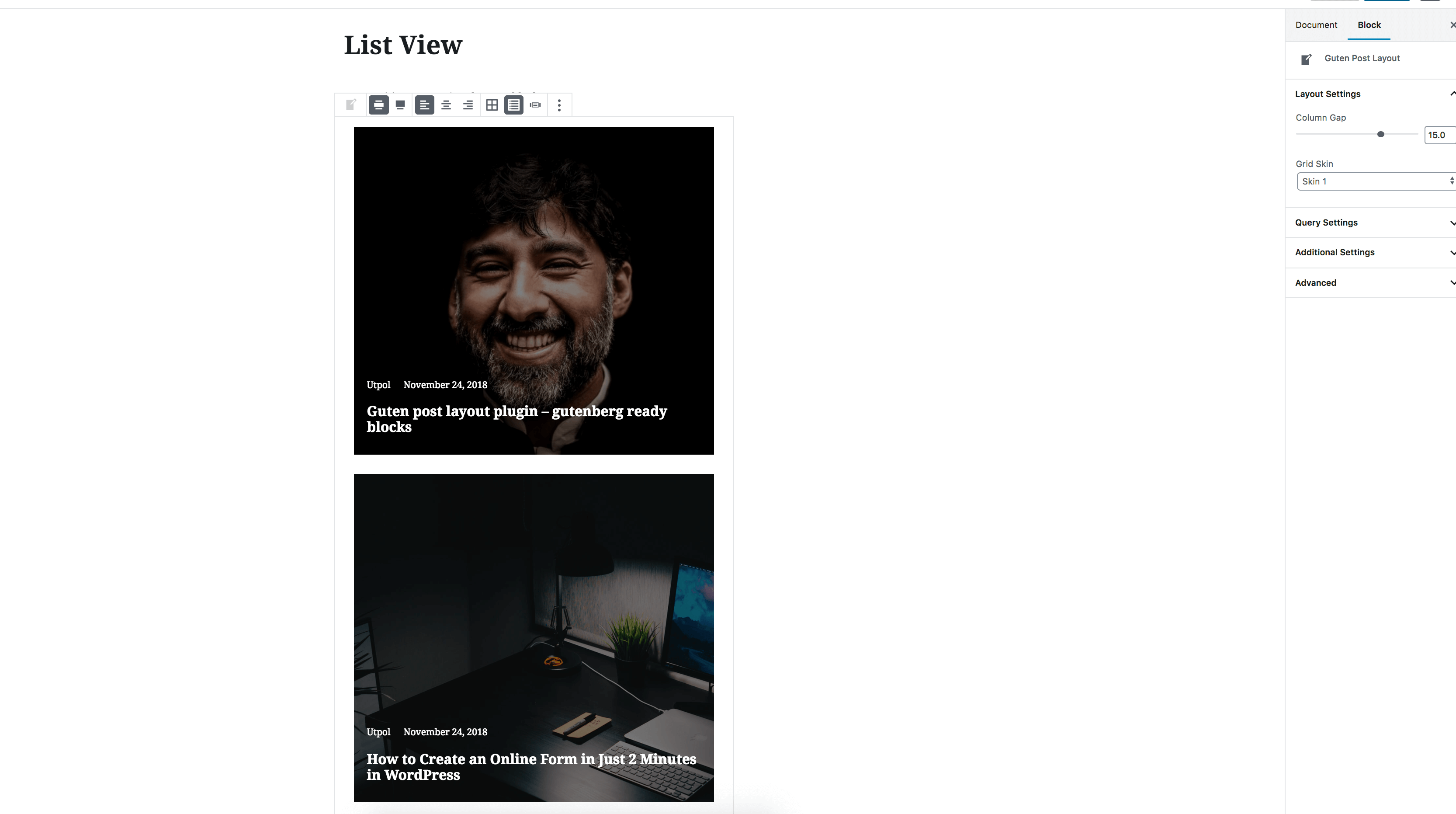 List View 1 Example