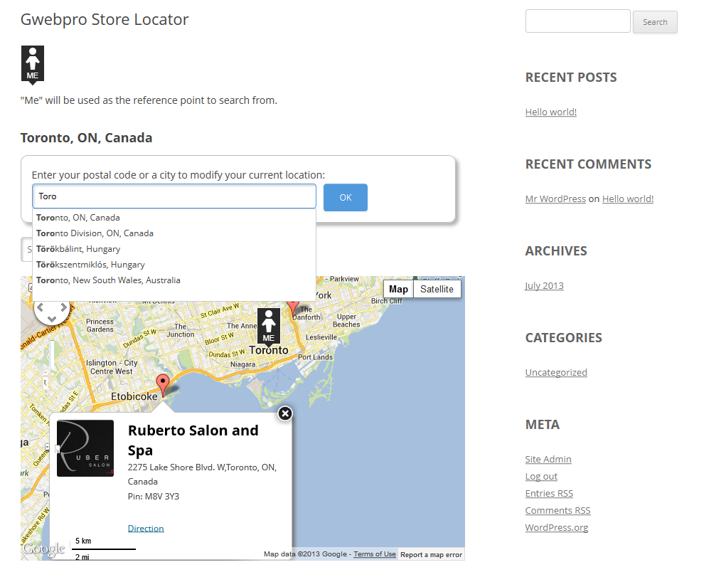 gwebpro-store-locator screenshot 2