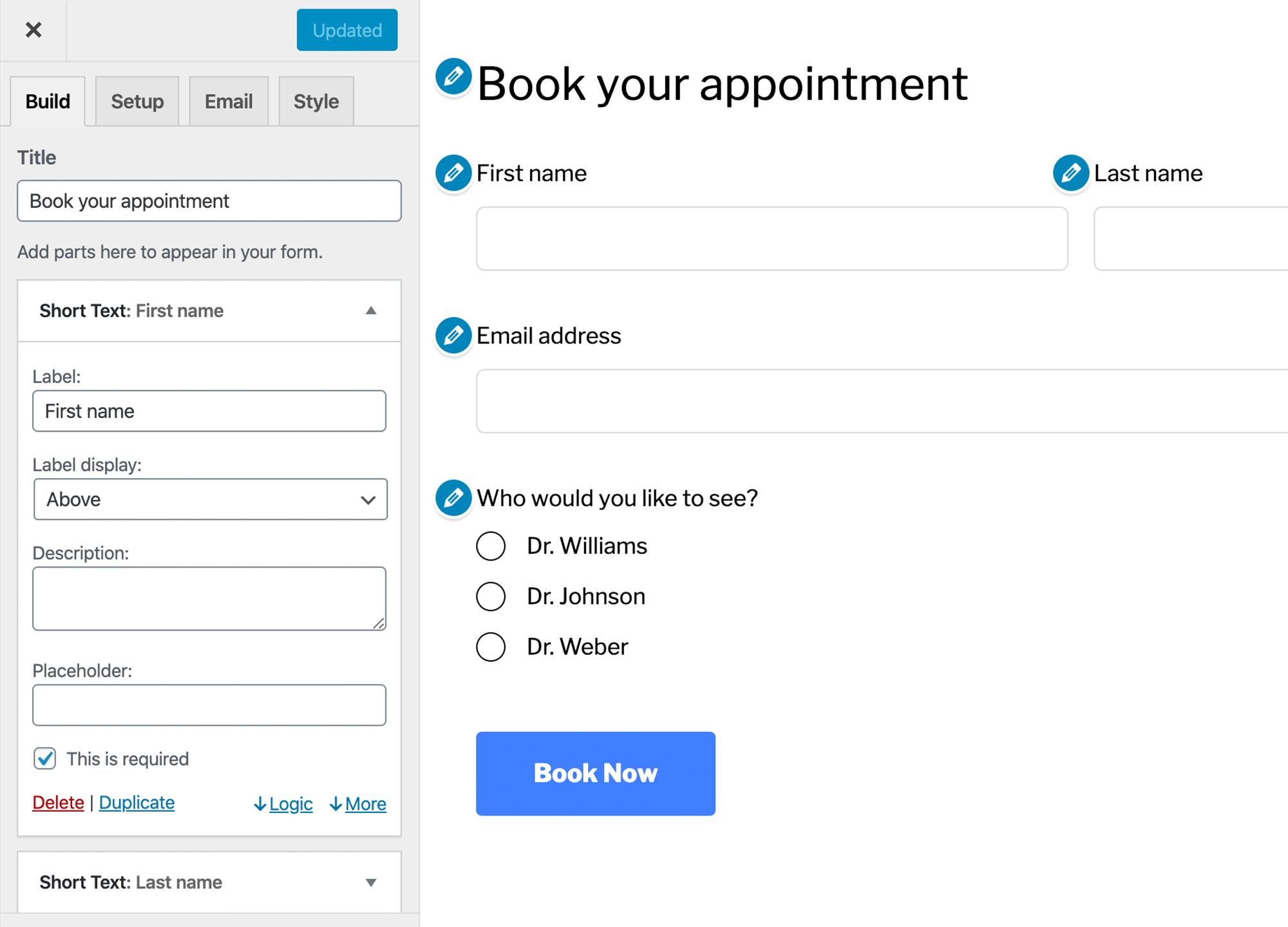 联系表格来管理和响应与客户的对话-HappyForms