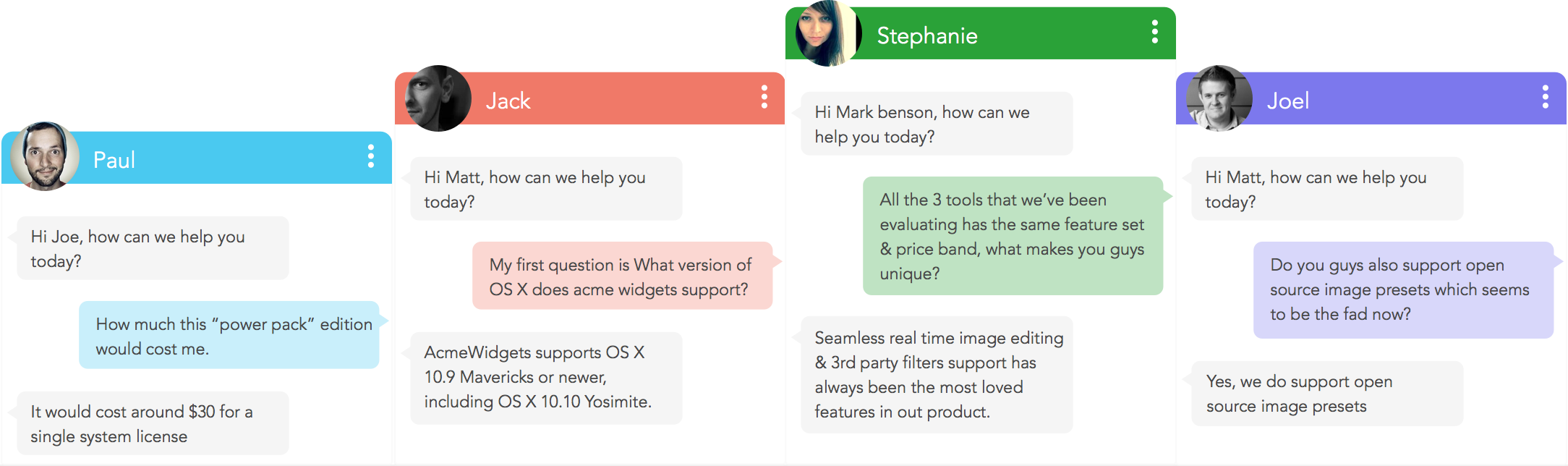 Personalize your live chat experience with custom widgets