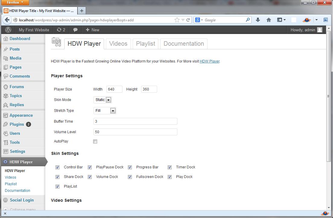 HDW Player Plugin (Video Player & Video Gallery) – WordPress