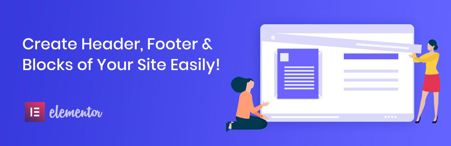 Elementor – Header, Footer & Blocks – Plugin WordPress
