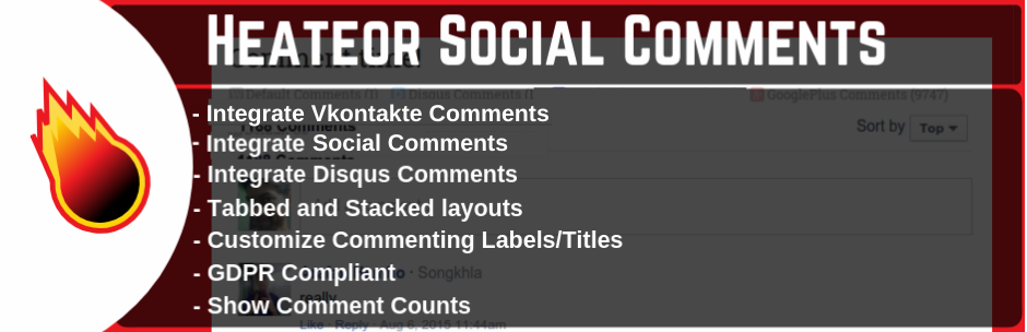 WordPress Social Comments Plugin for Facebook Comments, Google+ Comments, Disqus Comments