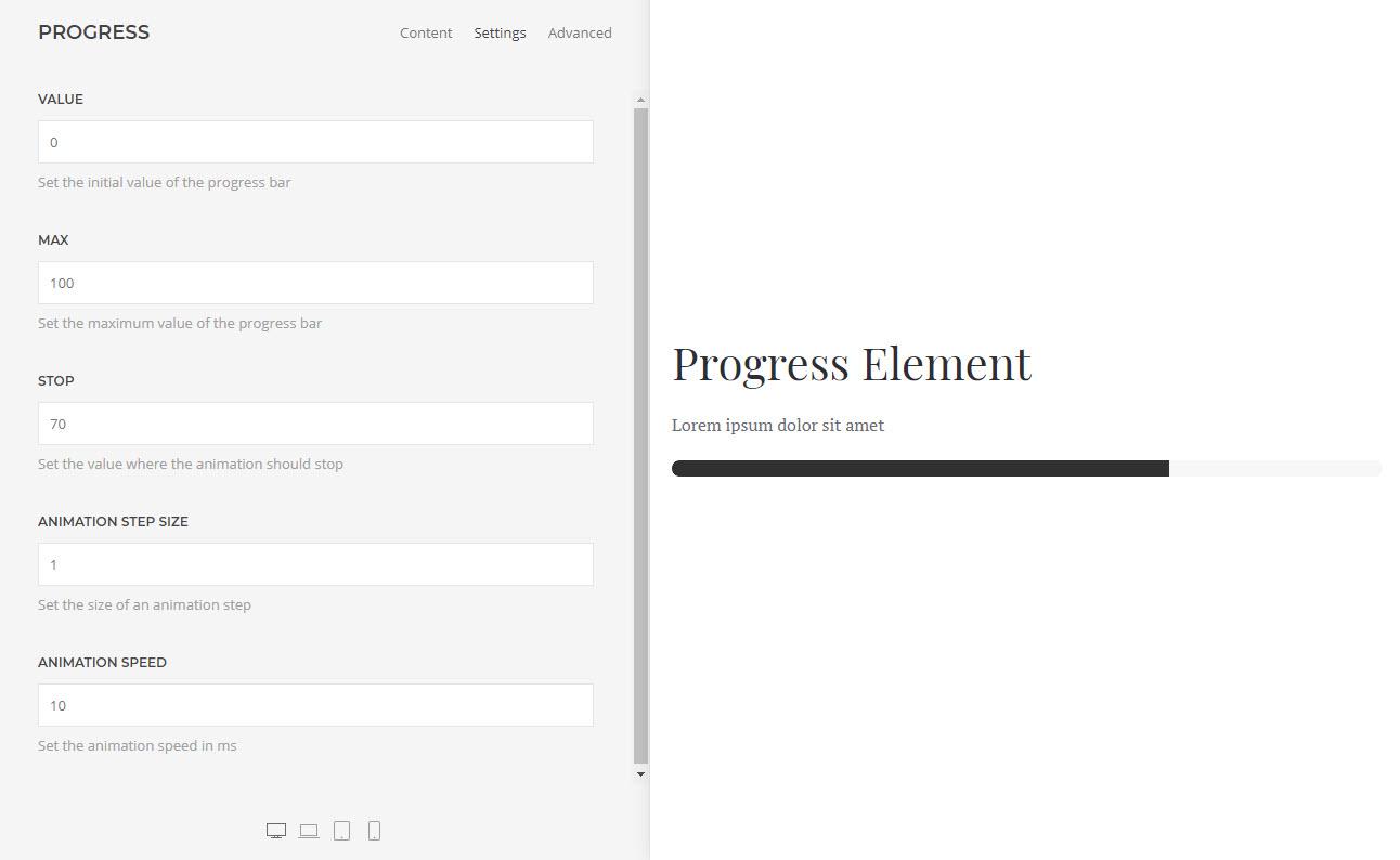 Progress Element