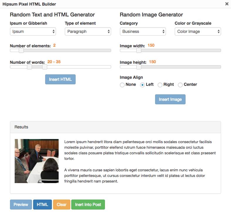 Hipsum Pixel UI in Lightbox showing render preview