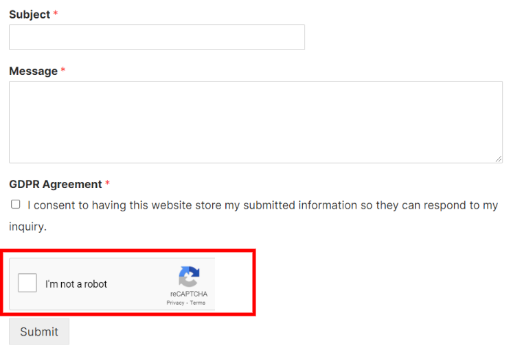 WPForms Google reCAPTCHA.