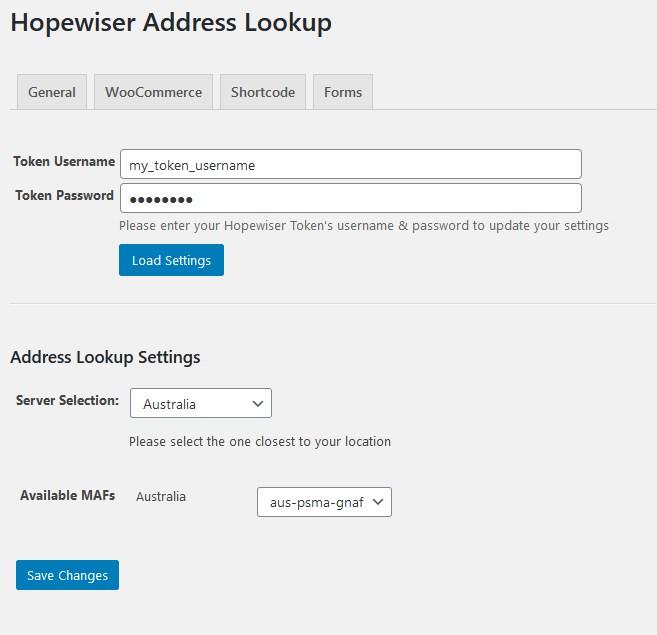 Hopewiser Address Lookup