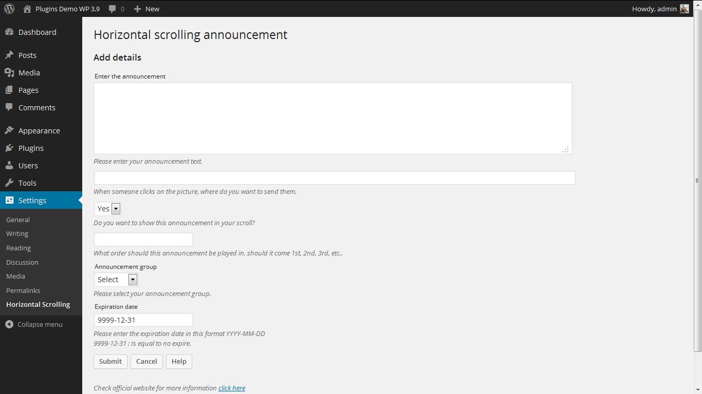 Admin 2. http://www.gopiplus.com/work/2010/07/18/horizontal-scrolling-announcement/