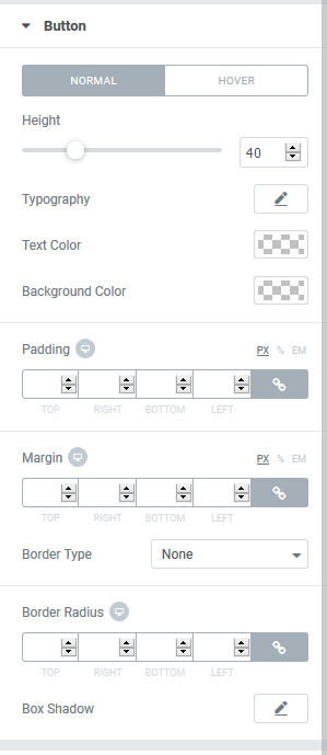 Elementor Addons submit button Styling Options