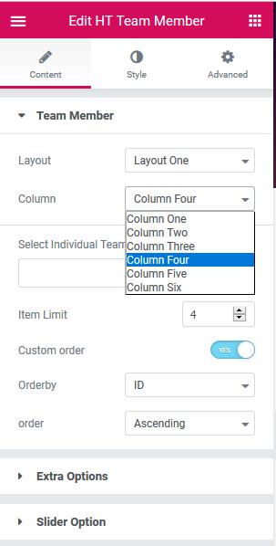 Elementor Addons Content Options