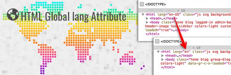 HTML Global lang Attribute