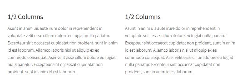 Responsive columns shortcode