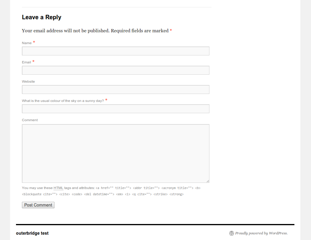 <p>screenshot-1.png shows how the question slots seamlessly into the comments section of the WordPress site.</p>