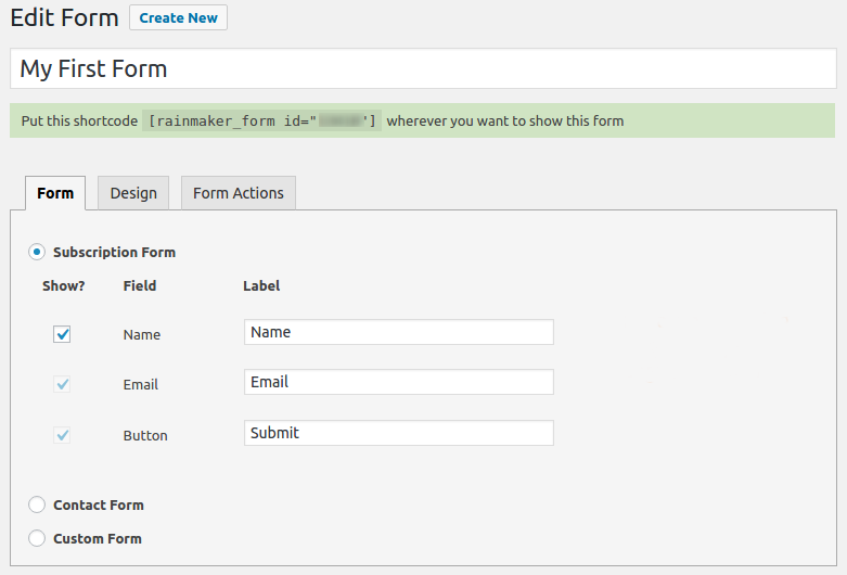 Rainmaker Form – Best Forms Plugin on WP