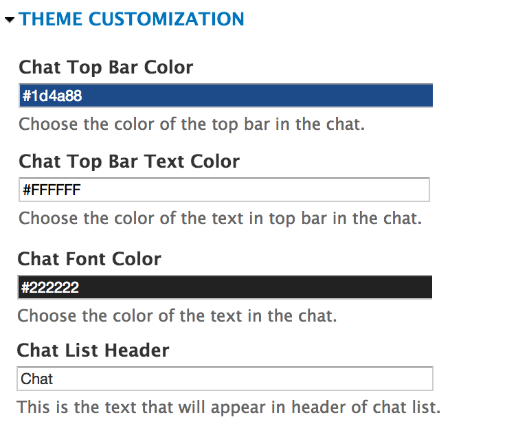 Theme Customisation - Customise look and feel of the chat to match your  website.