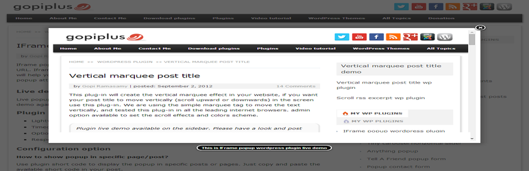 Iframe Popup Wordpress Plugin Wordpress Org