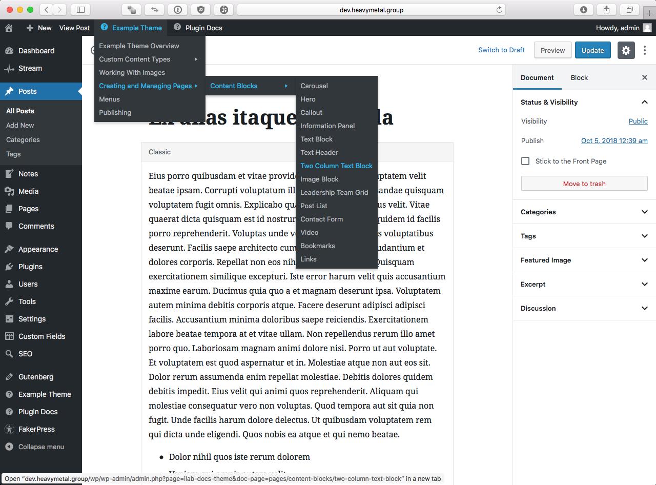Integrates with the WordPress Admin Bar.