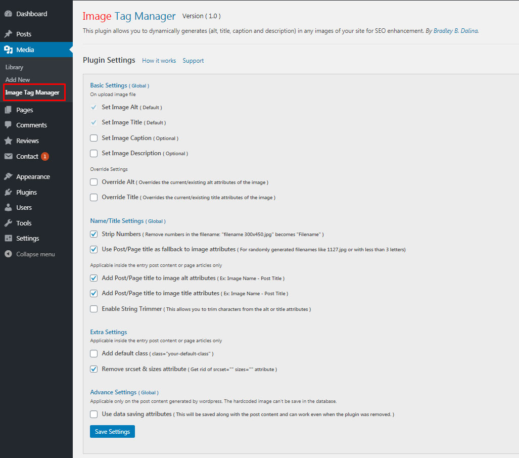 Image Tag Manager