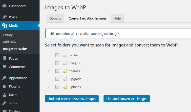 Images to WebP