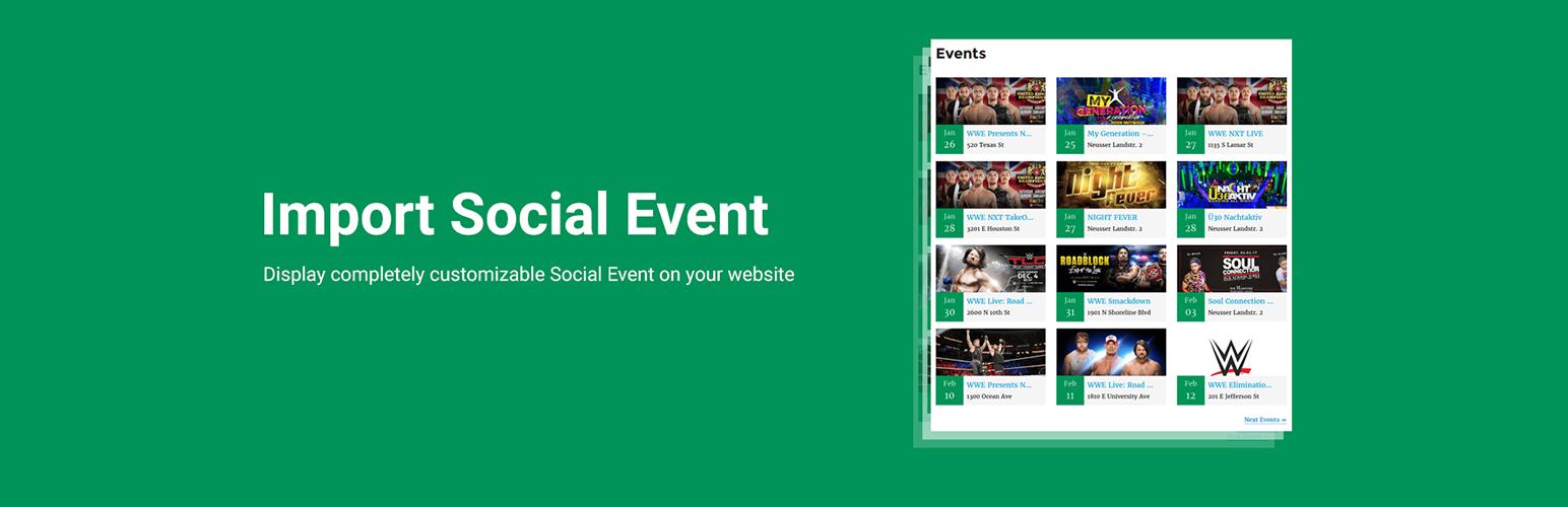 Import Social Events – WordPress plugin   WordPress org