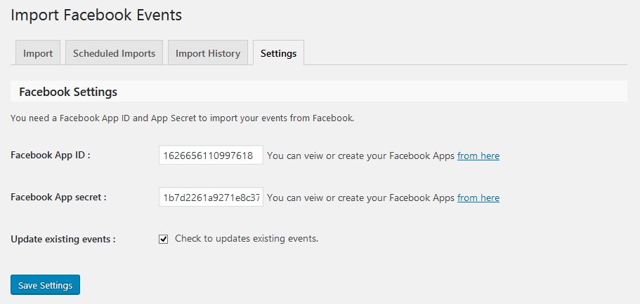 Upcoming Facebook Events widget in front-end with Event image(Pro)