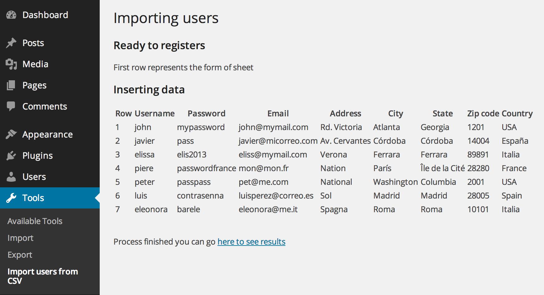 Import users from CSV with meta – WordPress plugin | WordPress org