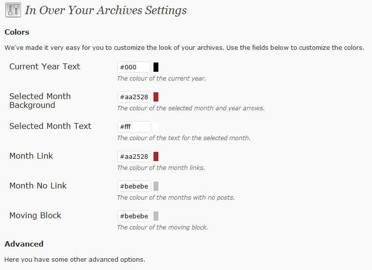 The archive as implemented on inoveryourhead.net